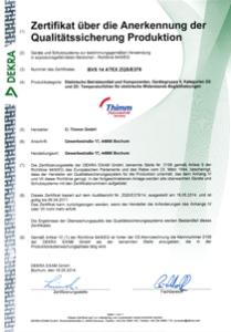 Zertifikat Atex