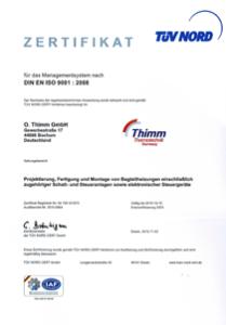 Zertifikat ISO 9001-2008
